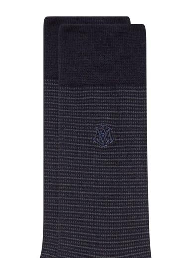 Mavi Soket Çorap Lacivert